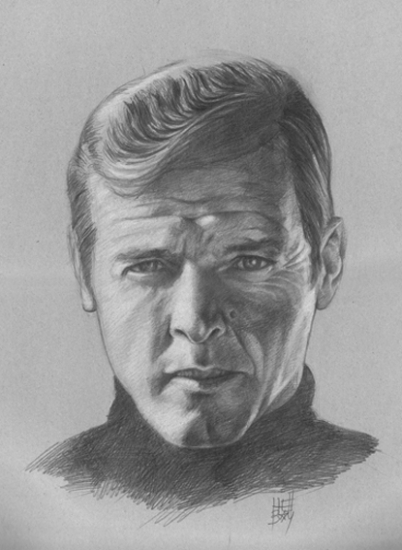 Roger Moore by Hellbay